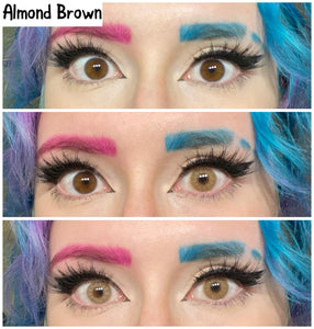 Almond Brown Colored Contact Lenses