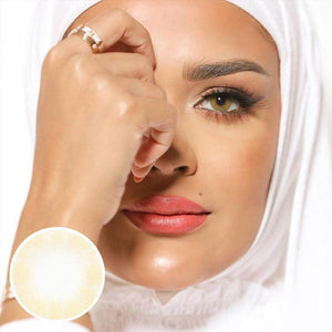 Ivory Colored Contact Lenses