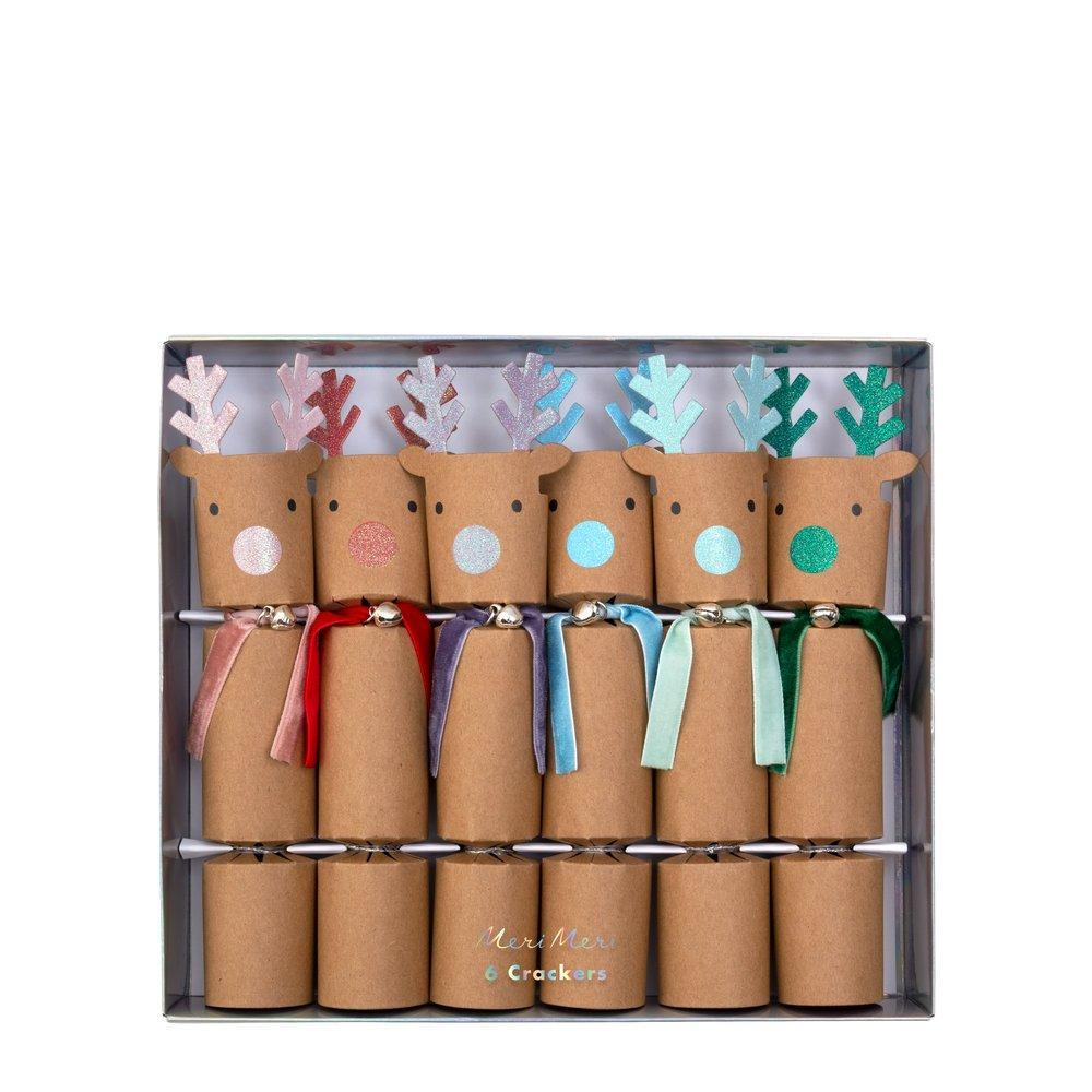 Rainbow Reindeer Party Crackers (pk6) - The Original Toy Shop