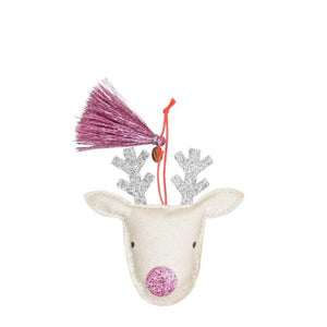 Reindeer Glitter Fabric Tree Decoration - The Original Toy Shop