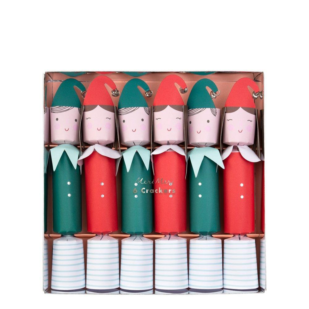 Festive Elf Medium Crackers (Pk6) - The Original Toy Shop