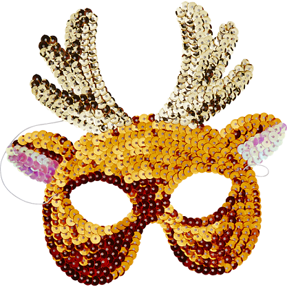 Sequin Reindeer Mask - The Original Toy Shop