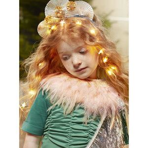 Peach Feather Capelet - The Original Toy Shop