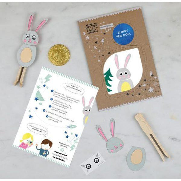 Make Your Own Bunny Peg Doll Kit - The Original Toy Shop