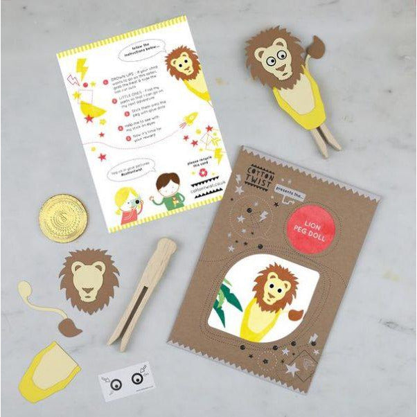 Make Your Own Lion Peg Doll Kit - The Original Toy Shop