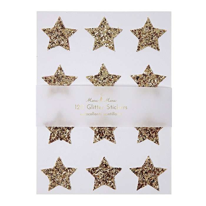 Chunky Gold Star Stickers (Pk120) - The Original Toy Shop