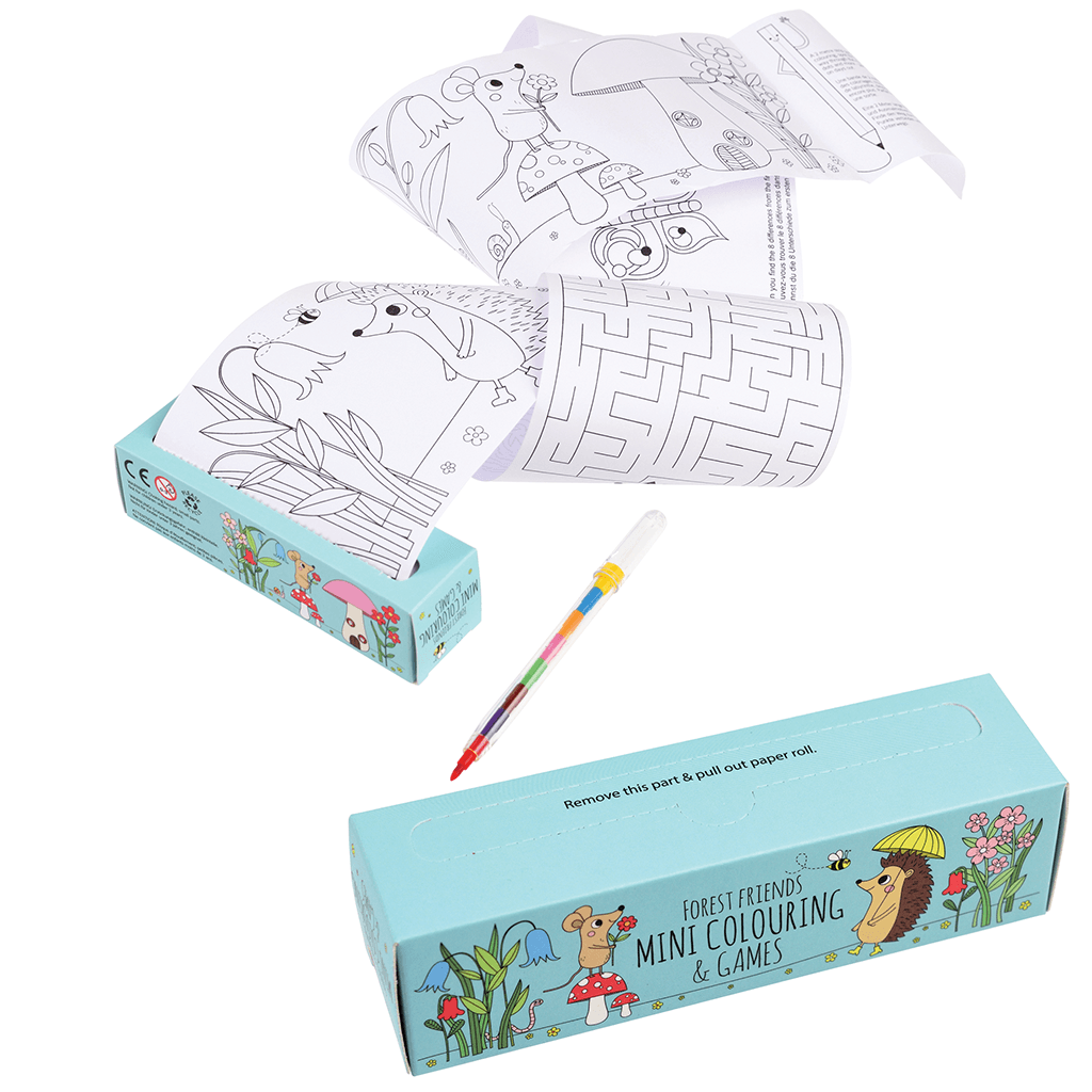 Forest Friends Mini Colouring And Games - The Original Toy Shop