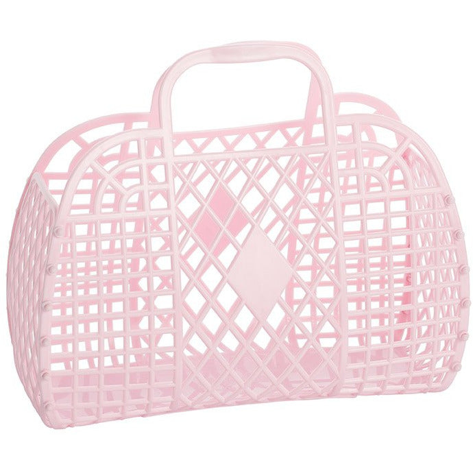 Retro Jelly Basket Pale Pink - The Original Toy Shop