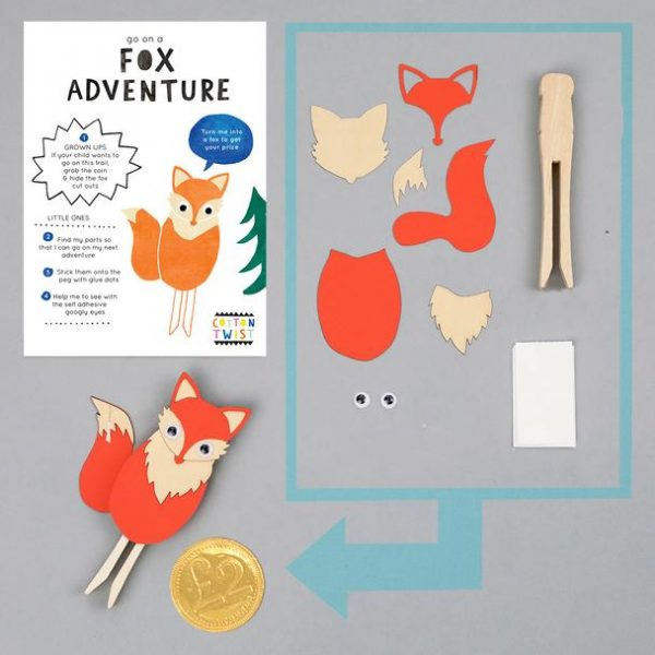 Make Your Own Fox Peg Doll Kit - The Original Toy Shop