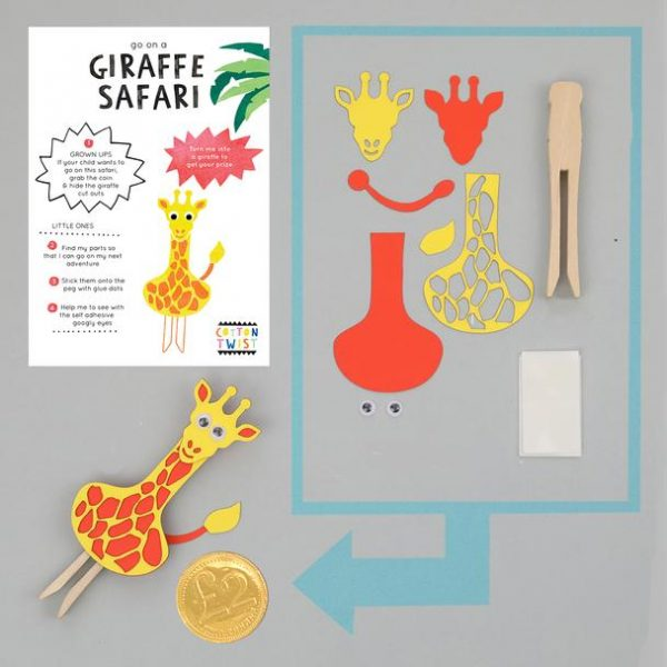 Make Your Own Giraffe Peg Doll Kit - The Original Toy Shop