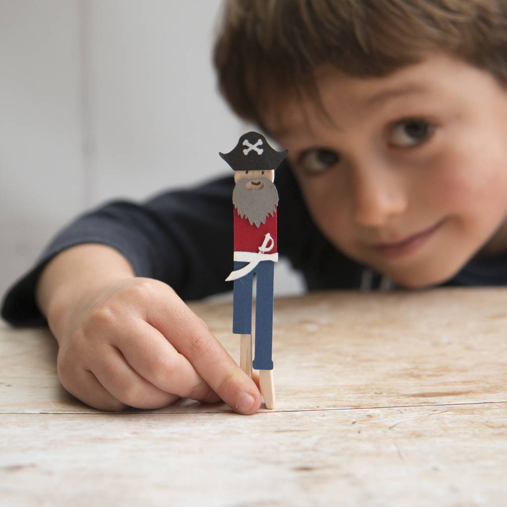 Make Your Own Pirate Peg Doll Kit - The Original Toy Shop