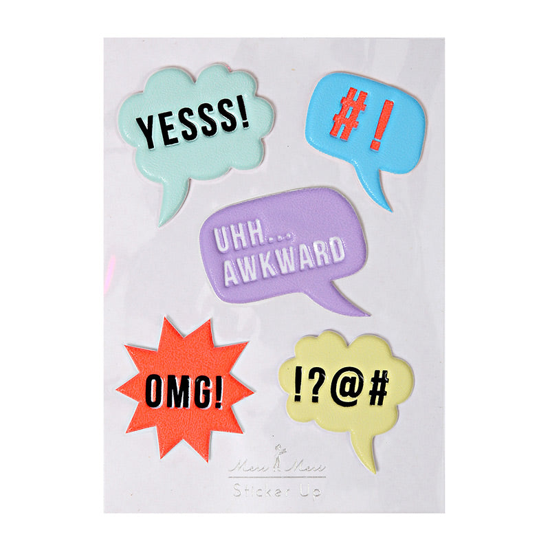 Puffy Speech Bubble Stickers - The Original Toy Shop