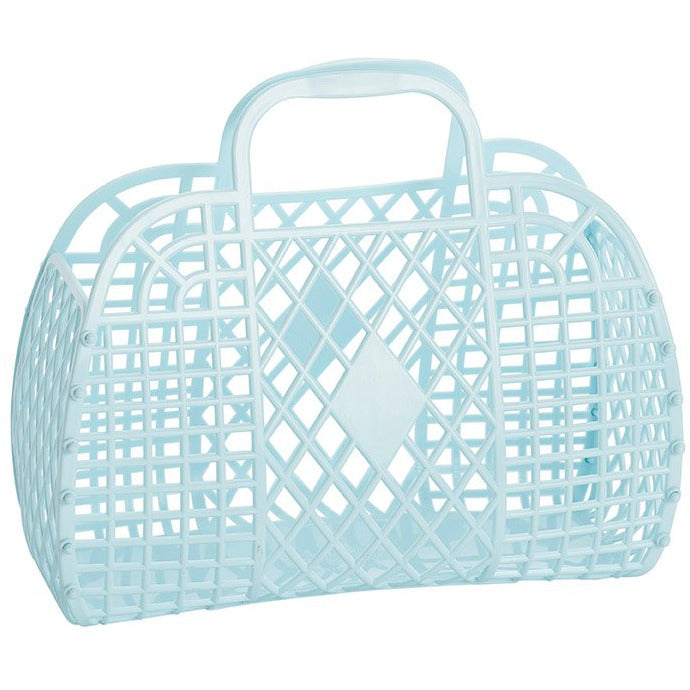 Retro Jelly Basket Blue - The Original Toy Shop