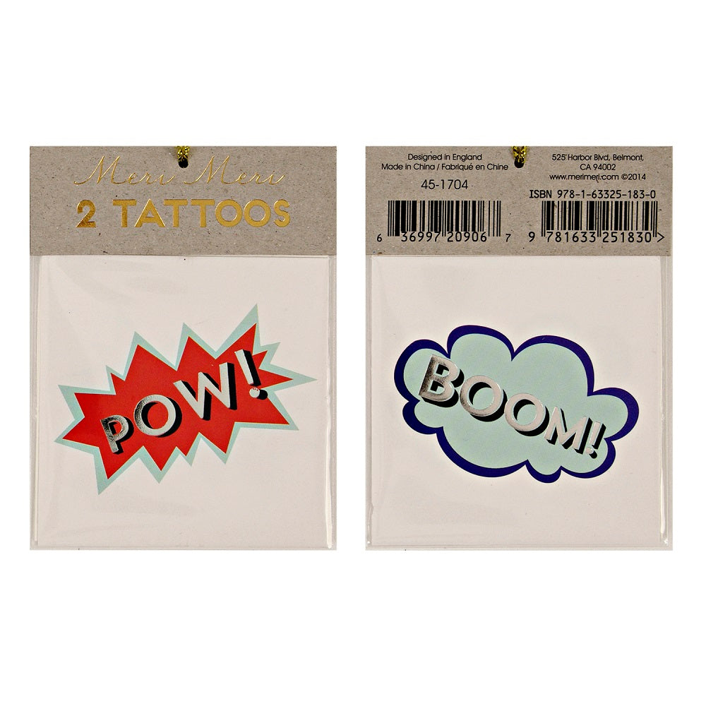 Superhero BOOM Tattoos (Pk2) - The Original Toy Shop