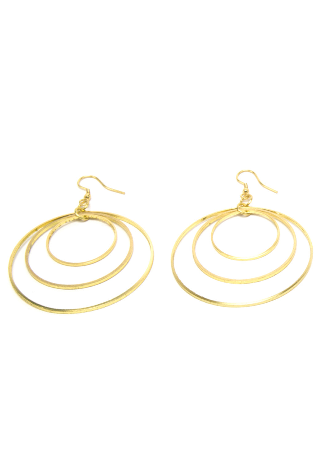 Stacked Circle Hoop Earrings