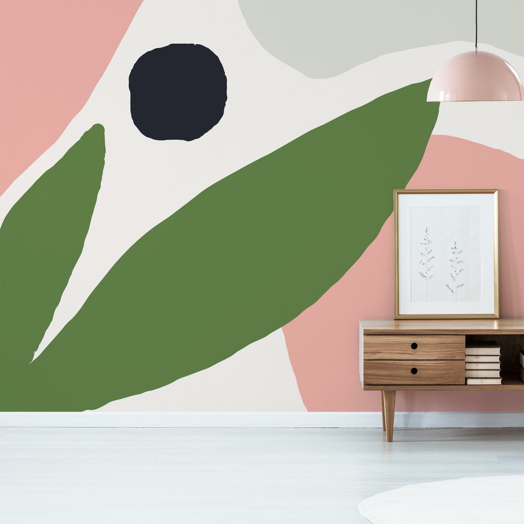 Chloe Wallpaper Mural with a sideboard to the right hand side | WallpaperMural.com