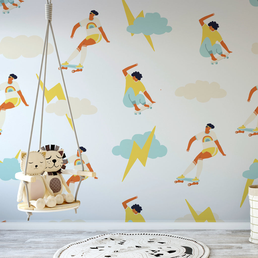 Coeval wallpaper mural in a childrens bedroom | WallpaperMural.com
