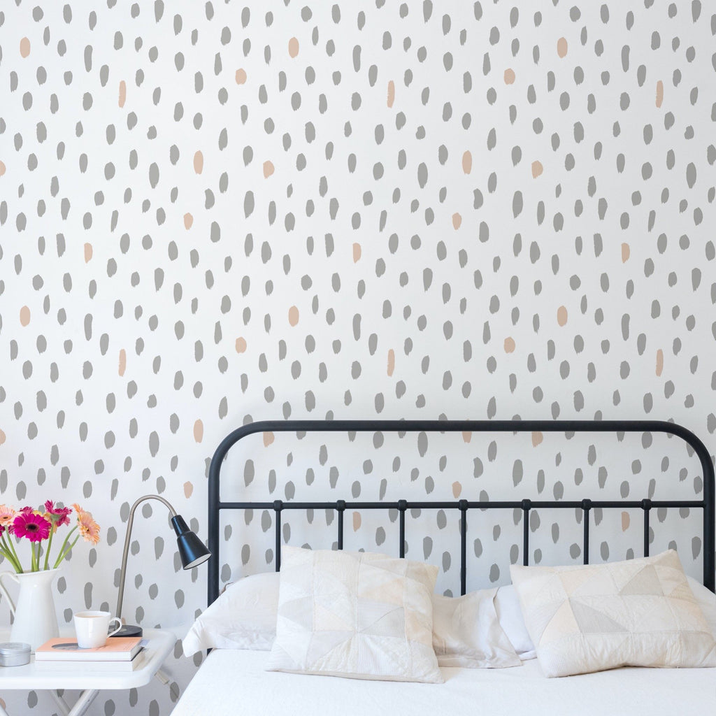 Dotty Wallpaper Mural in a bedroom setting | WallpaperMural.com
