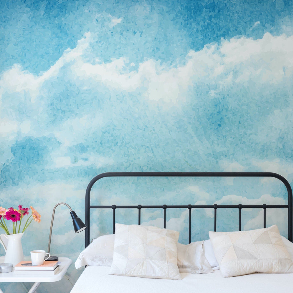 Dreamy wallpaper mural in a bedroom setting | WallpaperMural.com