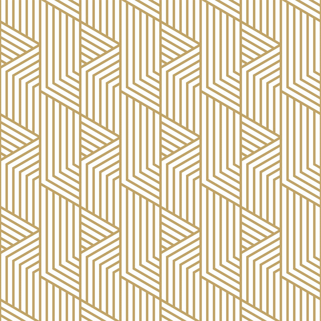 Gold Art Deco wallpaper mural  | WallpaperMural.com