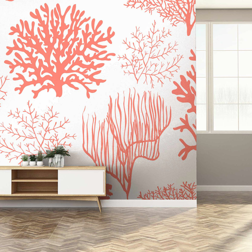 Jeren wallpaper mural in a hallway with a window | WallpaperMural.com
