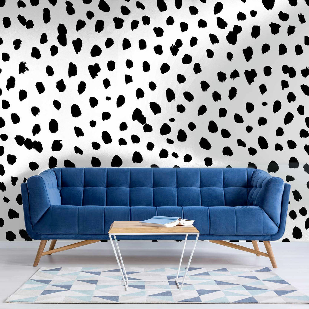 Lammour wallpaper mural in a sitting room | WallpaperMural.com