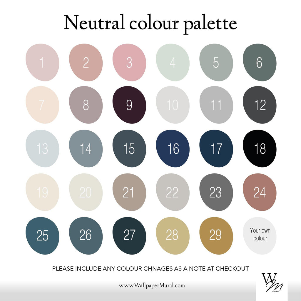 Neutral colour palette | WallpaperMural.com