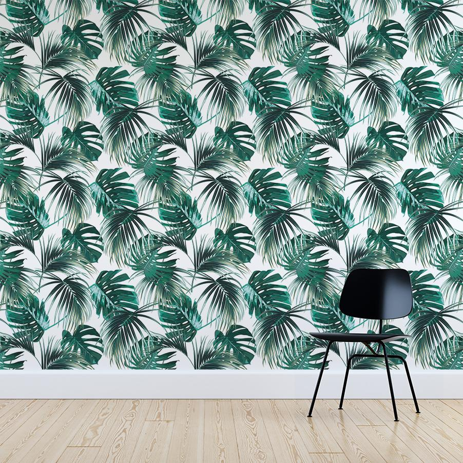 Nohea wallpaper mural with a Black chair in front | WallpaperMural.com
