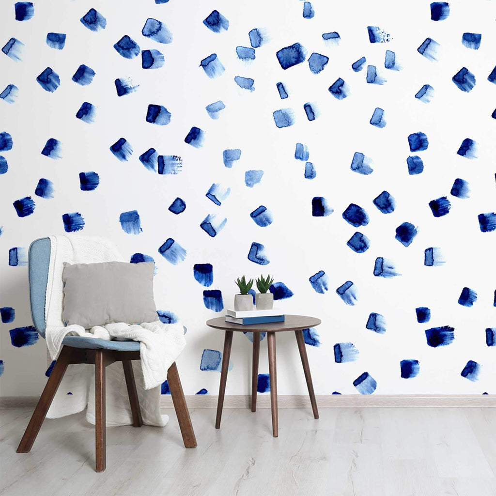 Okko wallpaper mural with a table and chair in front | WallpaperMural.com