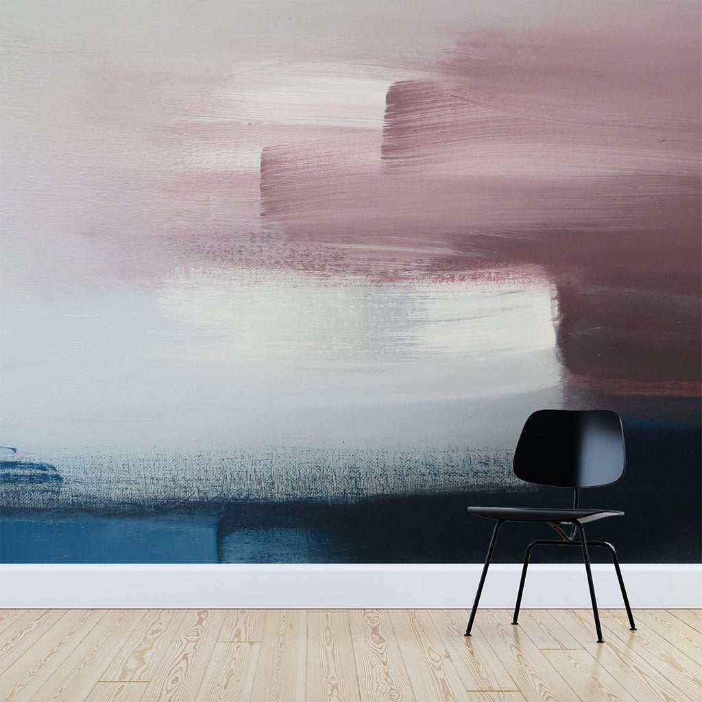 Paint wallpaper mural with a Black chair in front | WallpaperMural.com