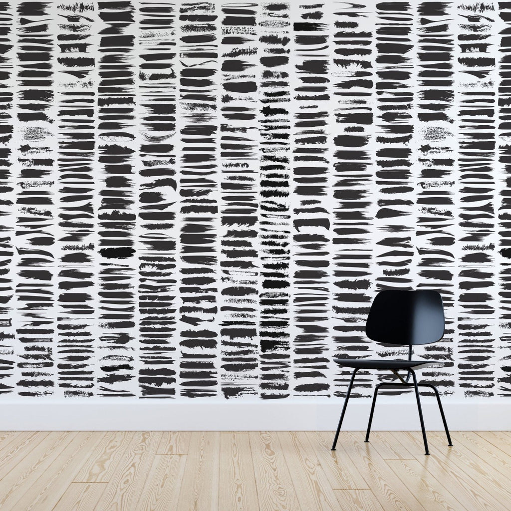 Slate wallpaper mural with a Black chair in front | WallpaperMural.com