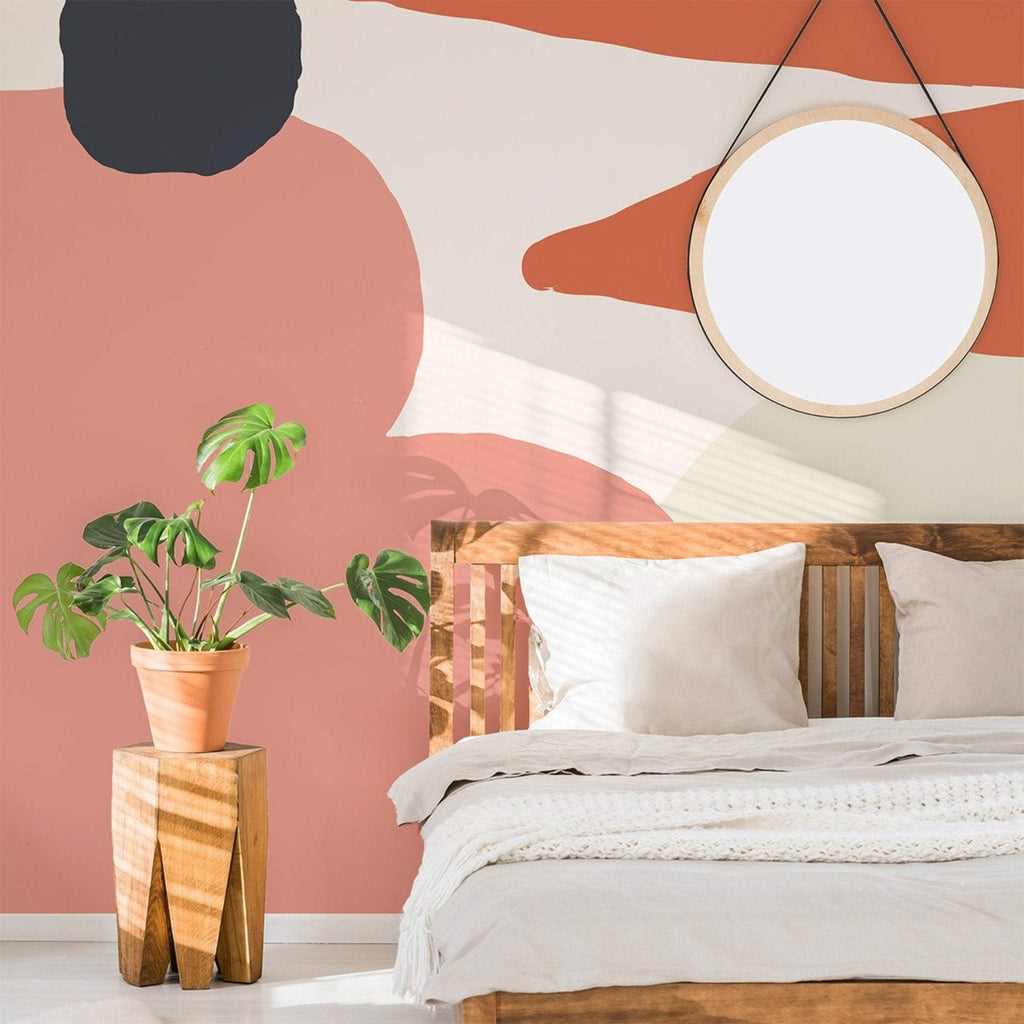 Tia wallpaper mural in a nice bright bedroom setting | WallpaperMural.com
