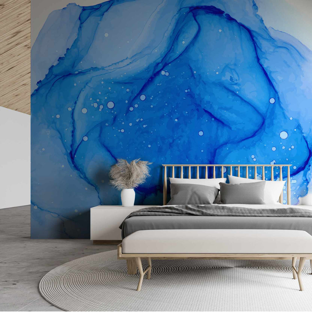 Ansmist wallpaper mural in a bedroom | WallpaperMural.com