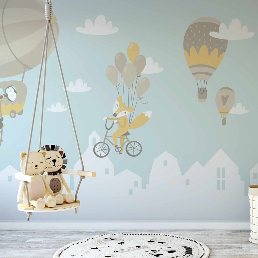 Aquaked wallpaper mural in a nursery | WallpaperMural.com