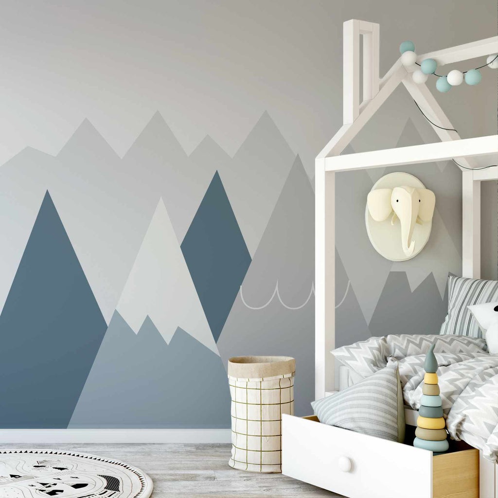 Bowdly wallpaper mural in a bedroom | WallpaperMural.com