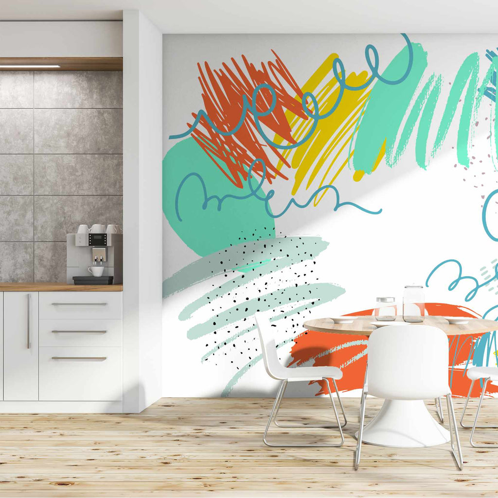 Cayune wallpaper mural in a kitchen | WallpaperMural.com