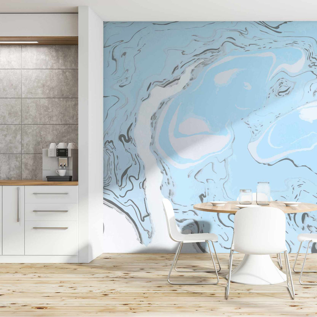 Charial wallpaper mural in a hallway | WallpaperMural.com
