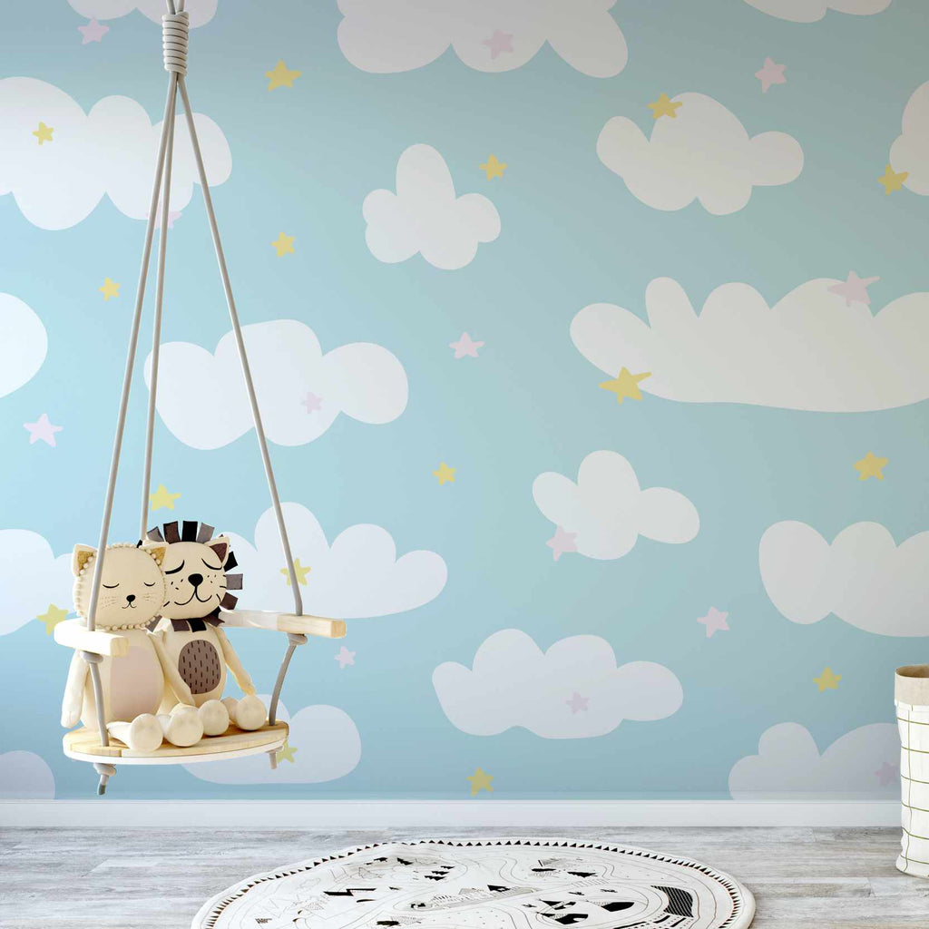 Claint wallpaper mural in a nursery | WallpaperMural.com