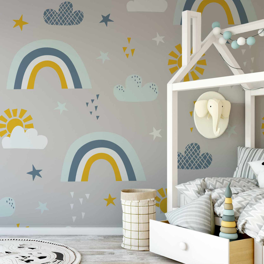 Clairpor wallpaper mural in a kids room | WallpaperMural.com