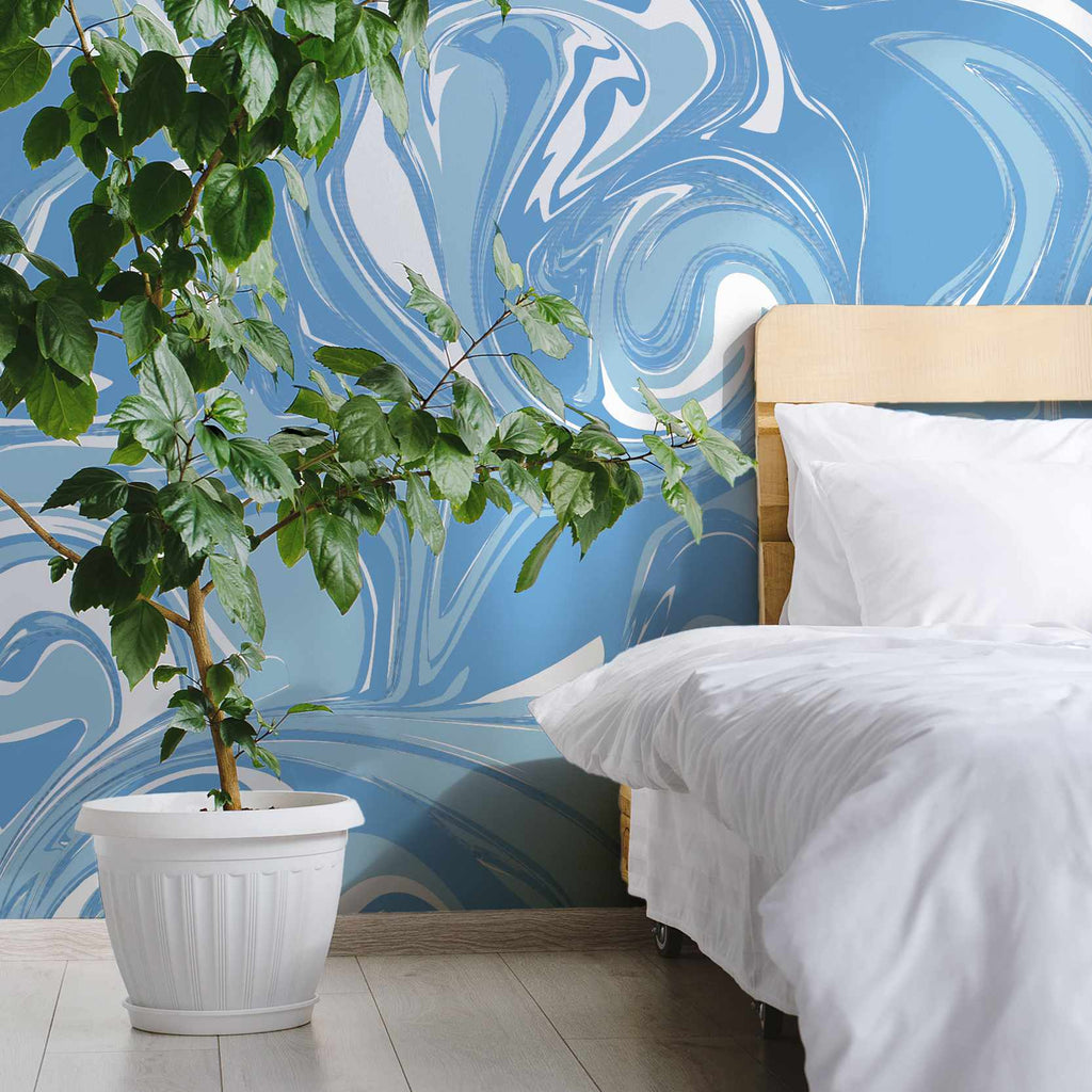 Exhill wallpaper mural with a Green plant | WallpaperMural.com