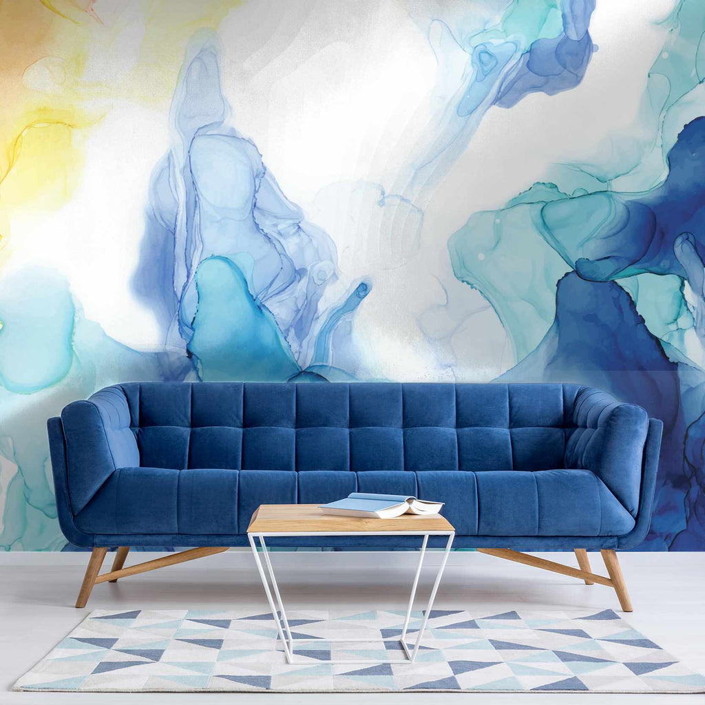 Gration wallpaper mural in a living room | WallpaperMural.com