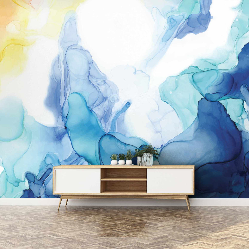 Gration wallpaper mural in a hallway | WallpaperMural.com