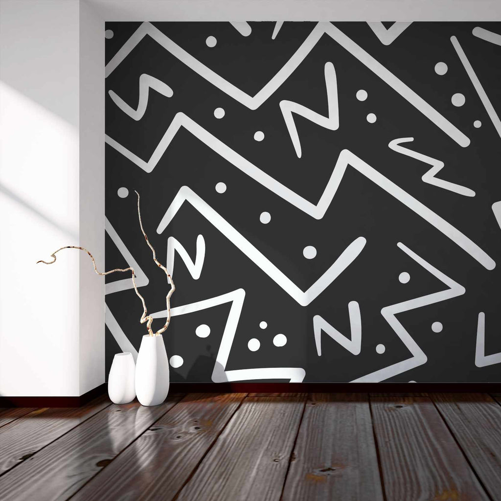 Hooroon wallpaper mural with a White vase | WallpaperMural.com