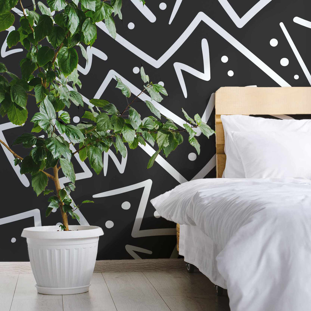 Hooroon wallpaper mural with a Green plant | WallpaperMural.com