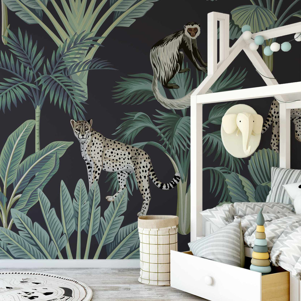 Huntive wallpaper mural in a nursery | WallpaperMural.com