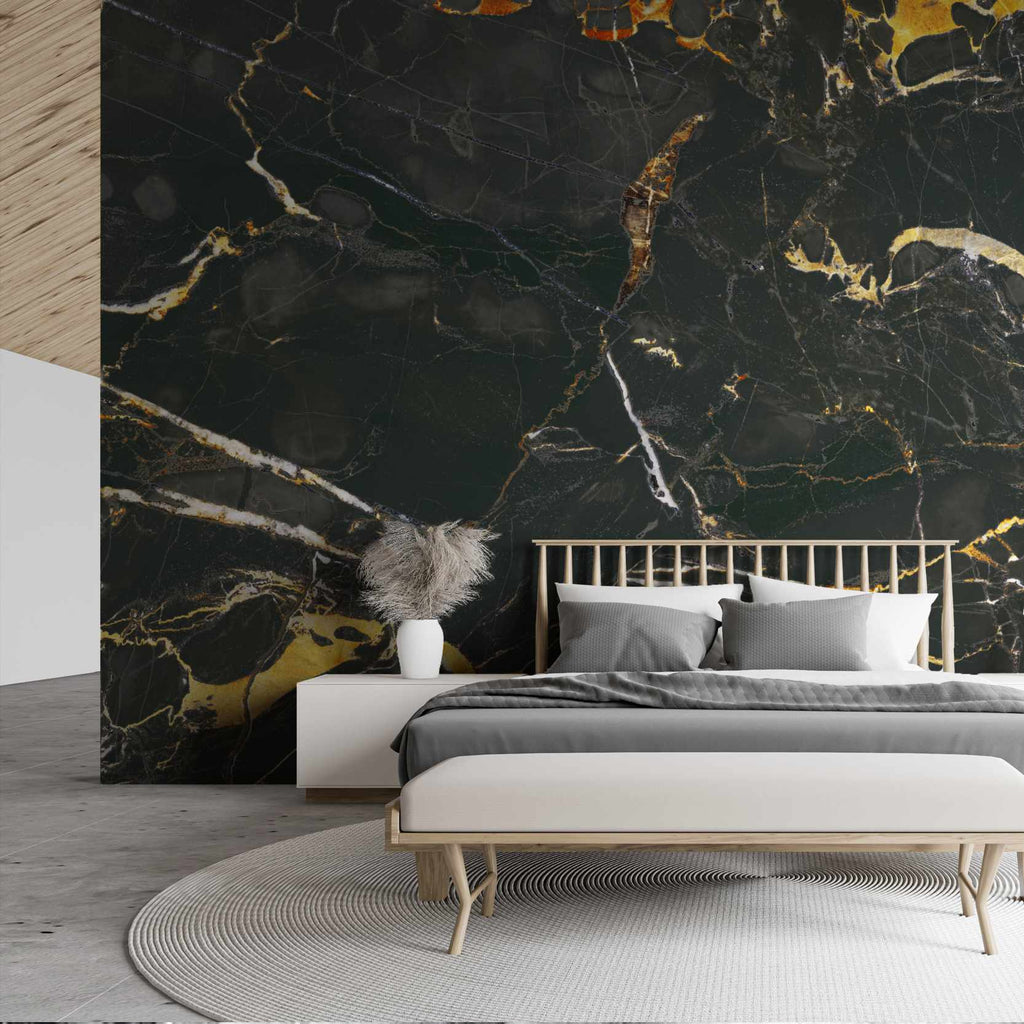 Inisonies wallpaper mural in a bedroom | WallpaperMural.com