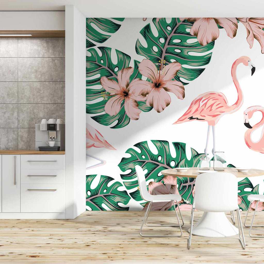 Isherolly wallpaper mural in a kitchen | WallpaperMural.com