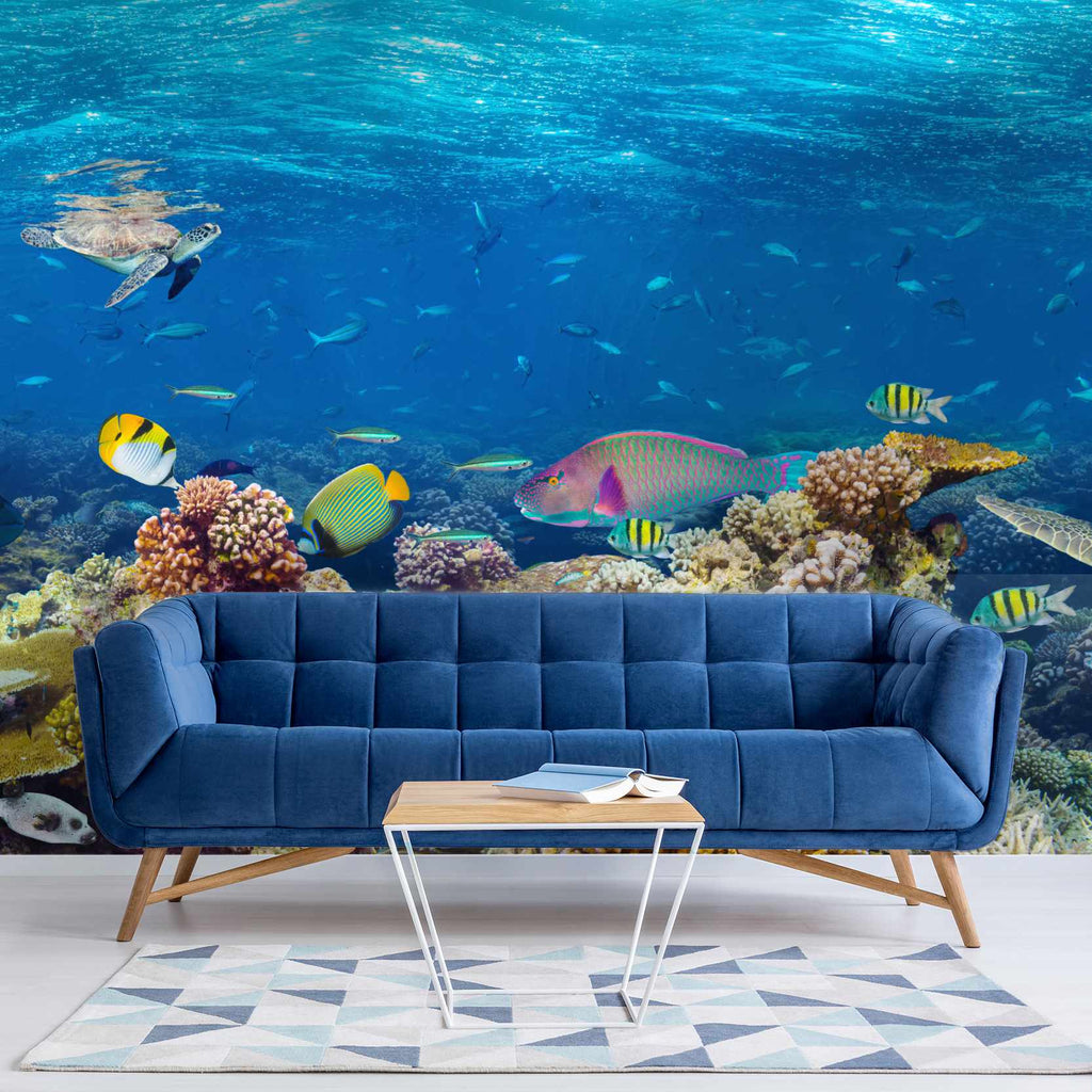 Kingel wallpaper mural in a lounge | WallpaperMural.com