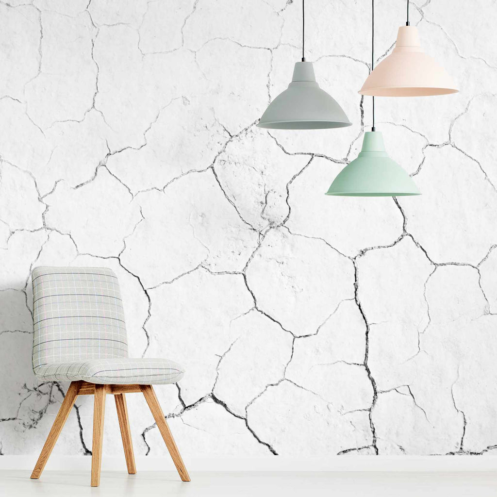 Krakess wallpaper mural with a chair | WallpaperMural.com