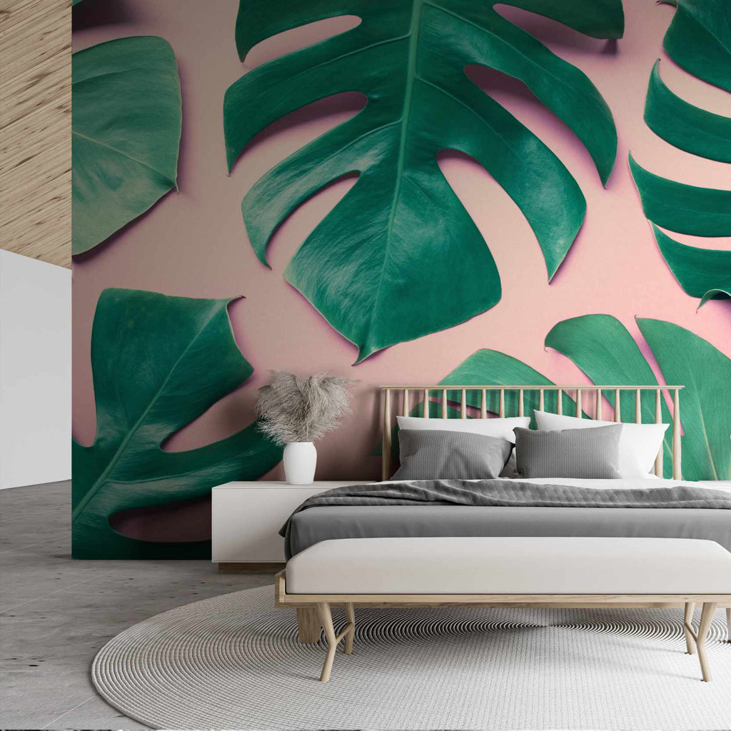 Lassion wallpaper mural in a bedroom | WallpaperMural.com